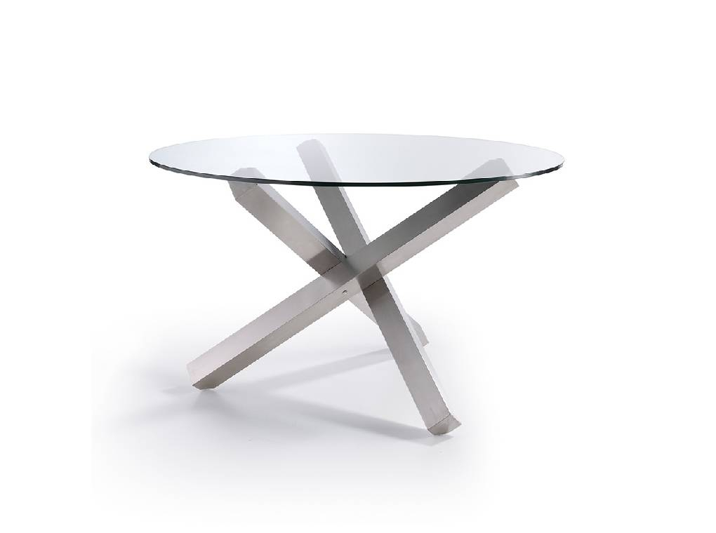 Current Dining Table With A Polished Stainless Steel Base – Angel Pertaining To Long Dining Tables With Polished Black Stainless Steel Base (#4 of 20)