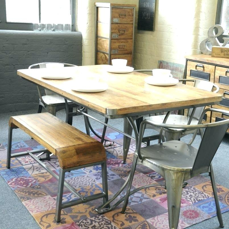 Current Iron Wood Dining Tables With Metal Legs Pertaining To Wood Dining Table With Metal Legs – Openenrollmentplan (View 18 of 20)