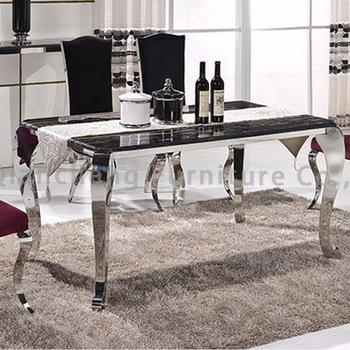 Current Modern Stainless Steel Dining Table And Chairs – Buy Modern Dining Table  And Chairs,stainless Steel Dining Table,dubai Dining Tables And Chairs Within Modern Dining Tables (#2 of 20)