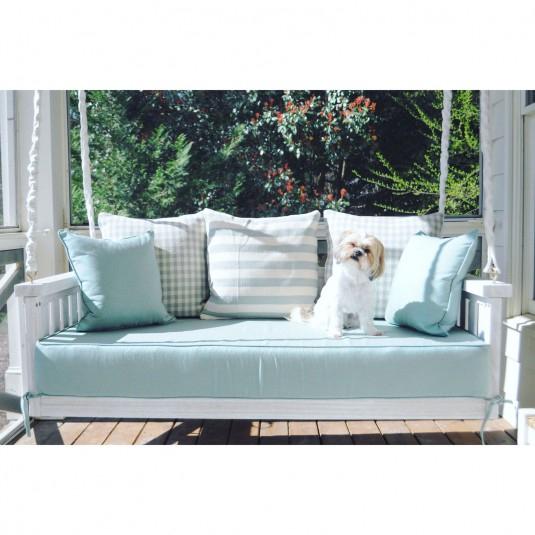 Custom Outdoor Glider / Porch Swing Cushions – Patio Lane Inside Deluxe Cushion Sunbrella Porch Swings (#6 of 20)