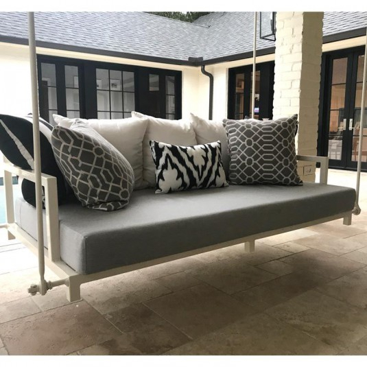Custom Outdoor Glider / Porch Swing Cushions – Patio Lane Intended For Deluxe Cushion Sunbrella Porch Swings (#7 of 20)