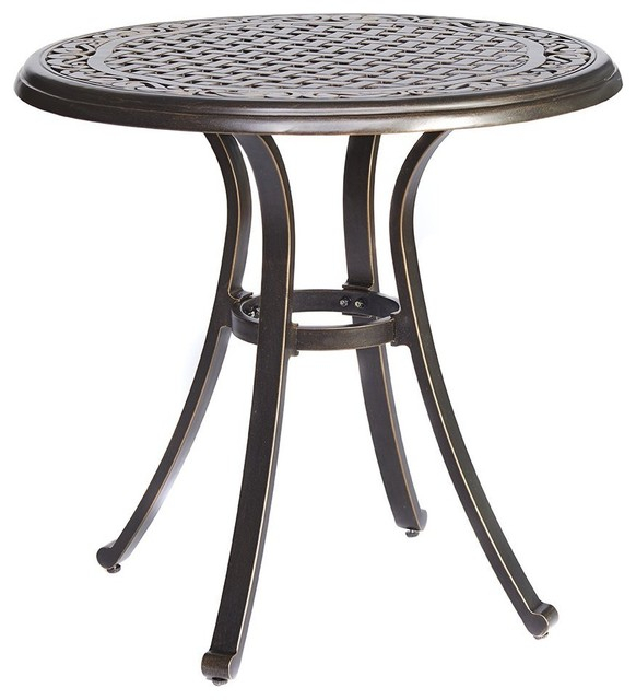 Inspiration about Dali Bistro Table,square Cast Aluminum Round Outdoor Patio Dining Table,  28 Inch In Most Popular Bistro Transitional 4 Seating Square Dining Tables (#11 of 20)