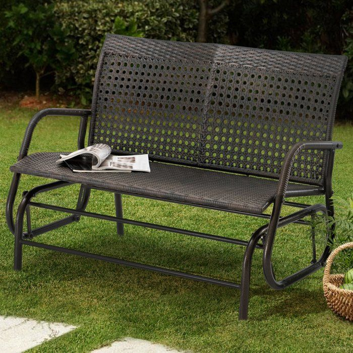 Inspiration about Darby Home Co Appleton Wicker Glider Bench & Reviews For Speckled Glider Benches (#3 of 20)