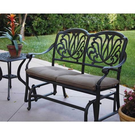 Inspiration about Darlee Elisabeth Cast Aluminum Glider Bench With Seat Inside Glider Benches With Cushion (#4 of 20)