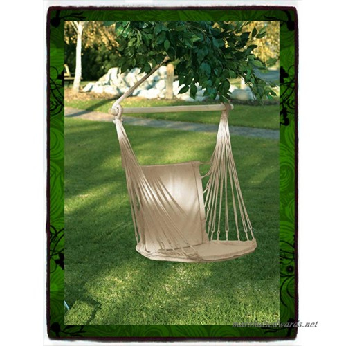 Deluxe Air Hammock Hanging Patio Tree Sky Swing Chair Throughout Cotton Porch Swings (View 20 of 20)