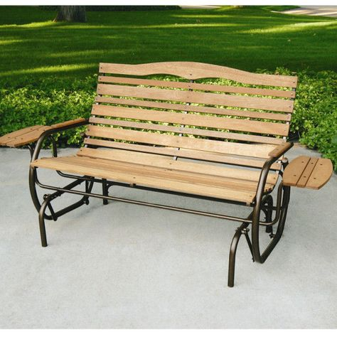 Inspiration about Details About Patio Glider Porch Rocking Swing Bench 2 Seat For Rocking Glider Benches (#6 of 20)