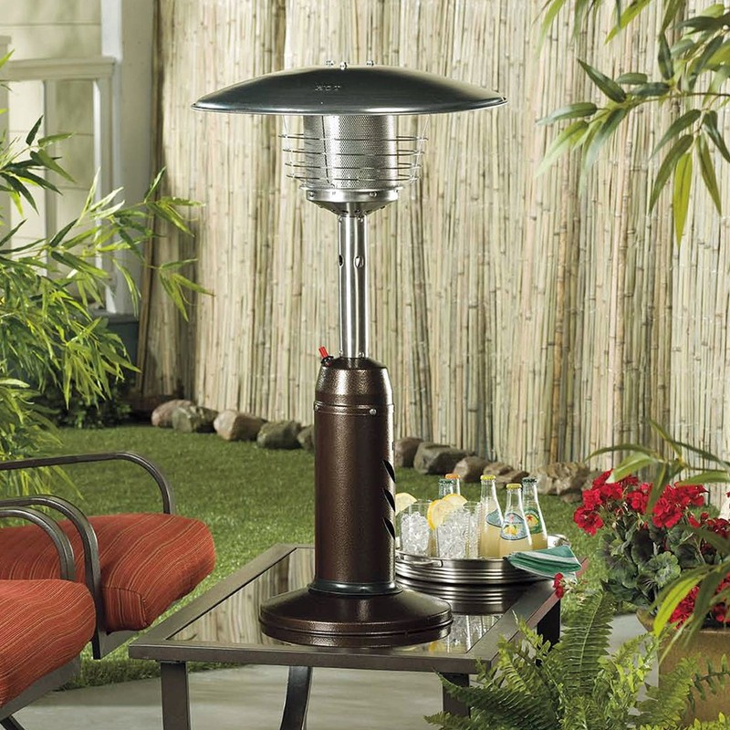 Details About Portable Bronze Tabletop Heater Mushroom Shape Outdoor Patio Deck Table Top Heat Pertaining To 2 Person Hammered Bronze Iron Outdoor Swings (View 9 of 20)