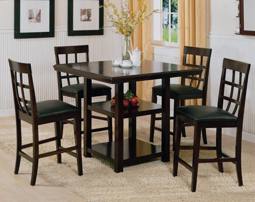 Dining Room Furniture Sets Inside Best And Newest Cappuccino Finish Wood Classic Casual Dining Tables (View 5 of 20)