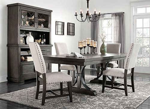 Inspiration about Dining Room Furniture Throughout Charcoal Transitional 6 Seating Rectangular Dining Tables (#19 of 20)
