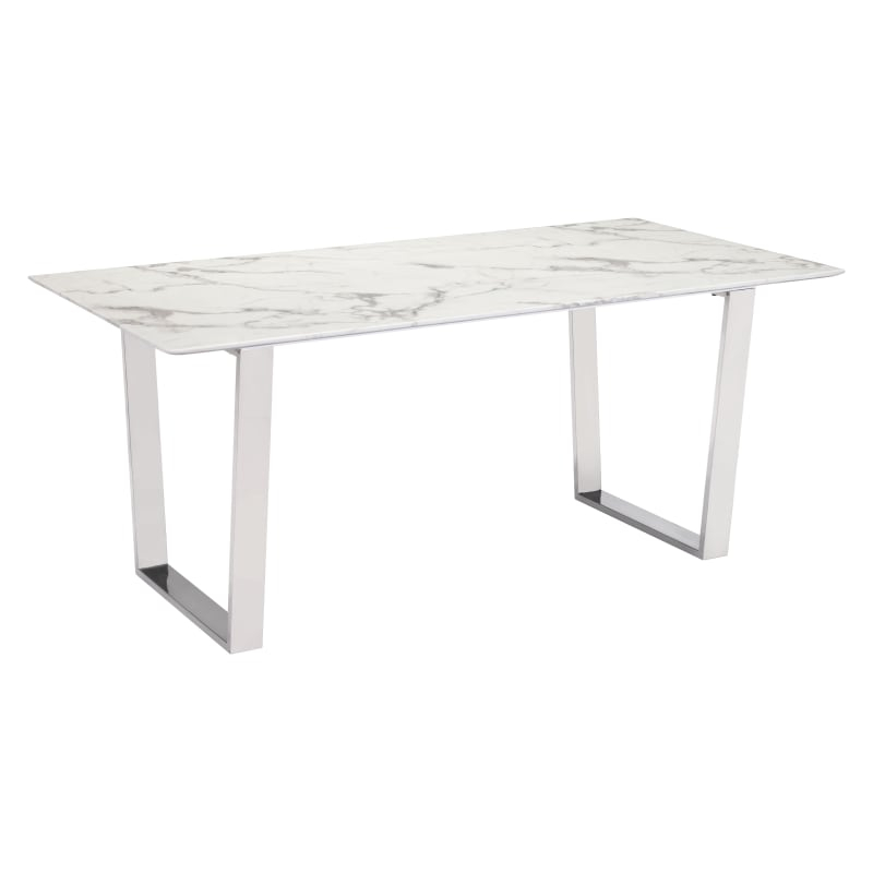 Dining Table, Dining Pertaining To Most Recent Dining Tables With Brushed Stainless Steel Frame (#7 of 20)