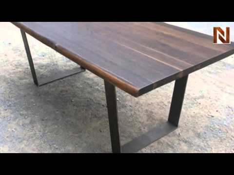 Inspiration about Dining Tables In Seared Oak Intended For Trendy Nuevo Versaille Dining Table Seared Oak, High Polish (#16 of 20)