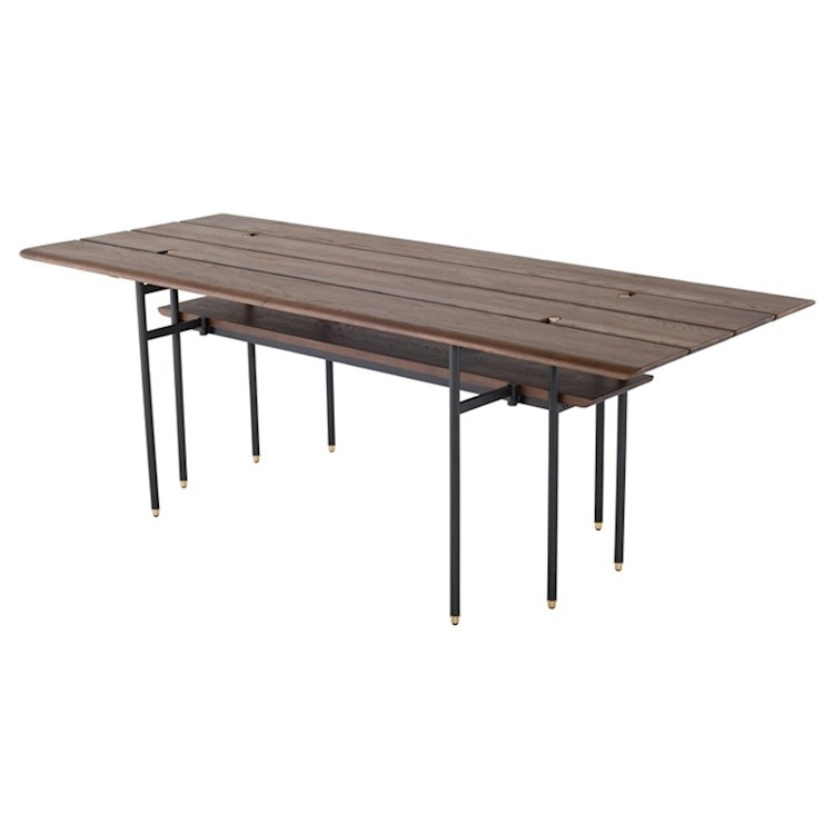 Dining Tables In Smoked Seared Oak Regarding Well Known Stacking Drop Leaf Dining Table In Smoked Wood (#6 of 20)