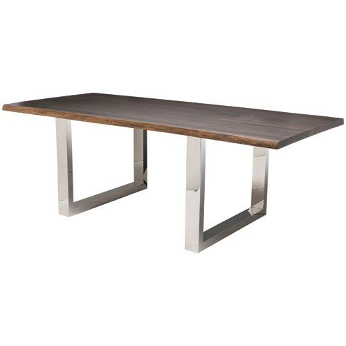 Dining Tables In Smoked/seared Oak With Regard To Well Known Lyon Seared 96 Inch Dining Table (#5 of 20)