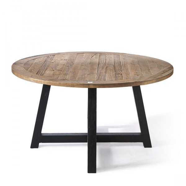 Dining Tables With Black U Legs In Well Known Canyamel Dining Table 140 Cm Diameter, Black Legs (View 4 of 20)