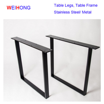 Dining Tables With Black U Legs Intended For Well Liked U Shape Unique Style Furniture Wood Table Black Desk Frame Stainless Steel  Table Legs – Buy Stainless Steel Dining Table Legs,custom Metal Table (View 7 of 20)