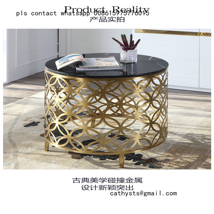 Dining Tables With Brushed Gold Stainless Finish With Regard To Widely Used China Mirror Or Brushed Stainless Steel Metal Table Marble (#10 of 20)