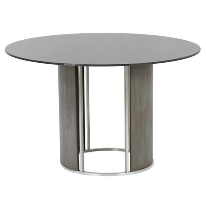 Inspiration about Dining Tables With Brushed Stainless Steel Frame Pertaining To Famous Armen Living Lcdlbagrbs (#5 of 20)