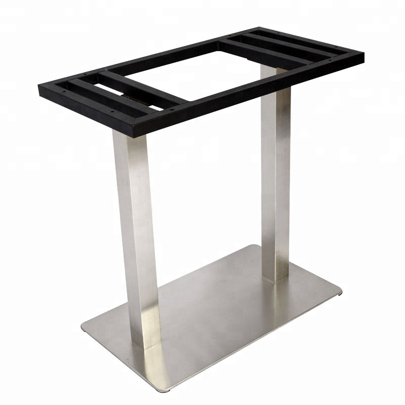 Dining Tables With Brushed Stainless Steel Frame Within Most Popular China Manufacturer Provide Rectangle Square Frame Brushed Stainless Steel  Table Base – Buy Brushed Nickel Table Base,stainless Steel Dining Table (#12 of 20)