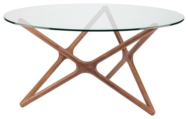 Dining Tables With Stained Ash Walnut With Regard To 2019 Star 44 Inch Round Dining Table With Glass Top (View 3 of 20)