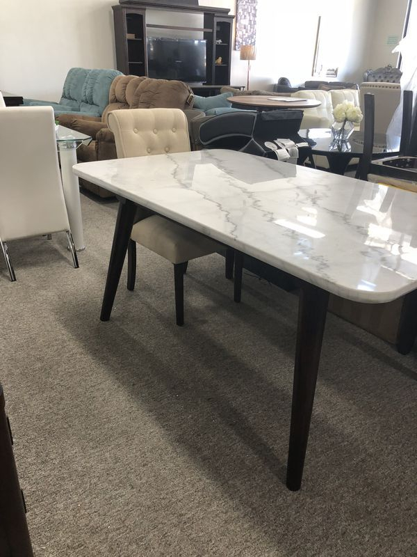 Dining Tables With White Marble Top Intended For Most Popular Marble Top White Dining Table Pay $40 Down And Take It Home (#5 of 20)
