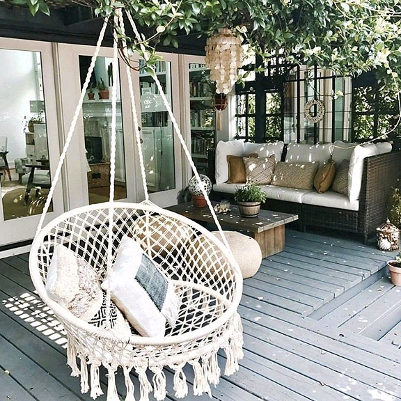 Dishfunctional Designs: This Ain't Yer Grandma's Porch Swing With Regard To Lamp Outdoor Porch Swings (View 14 of 20)