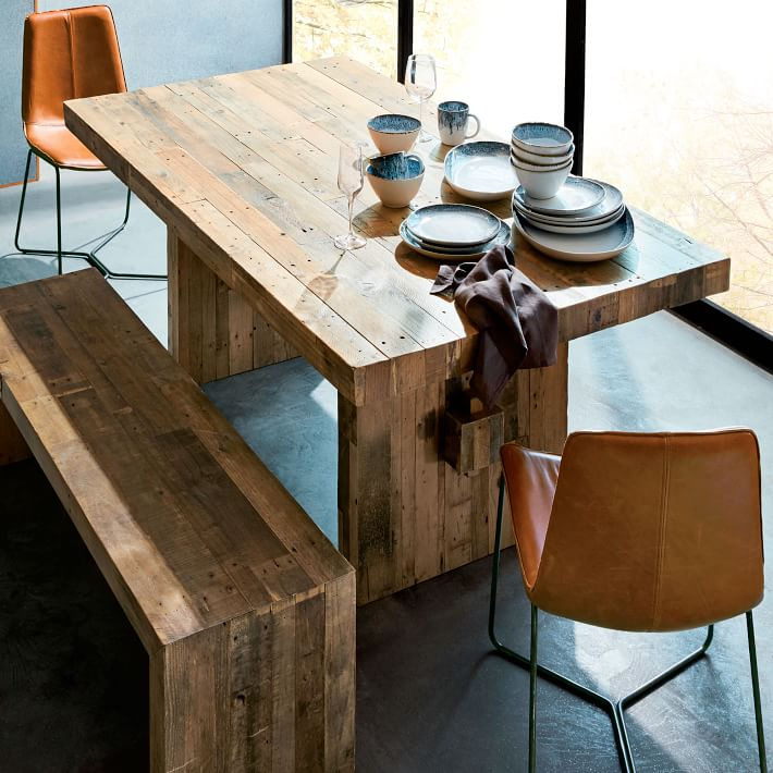 Inspiration about Distressed Grey Finish Wood Classic Design Dining Tables In Most Up To Date Emmerson® Reclaimed Wood Dining Table – Reclaimed Pine (#15 of 20)