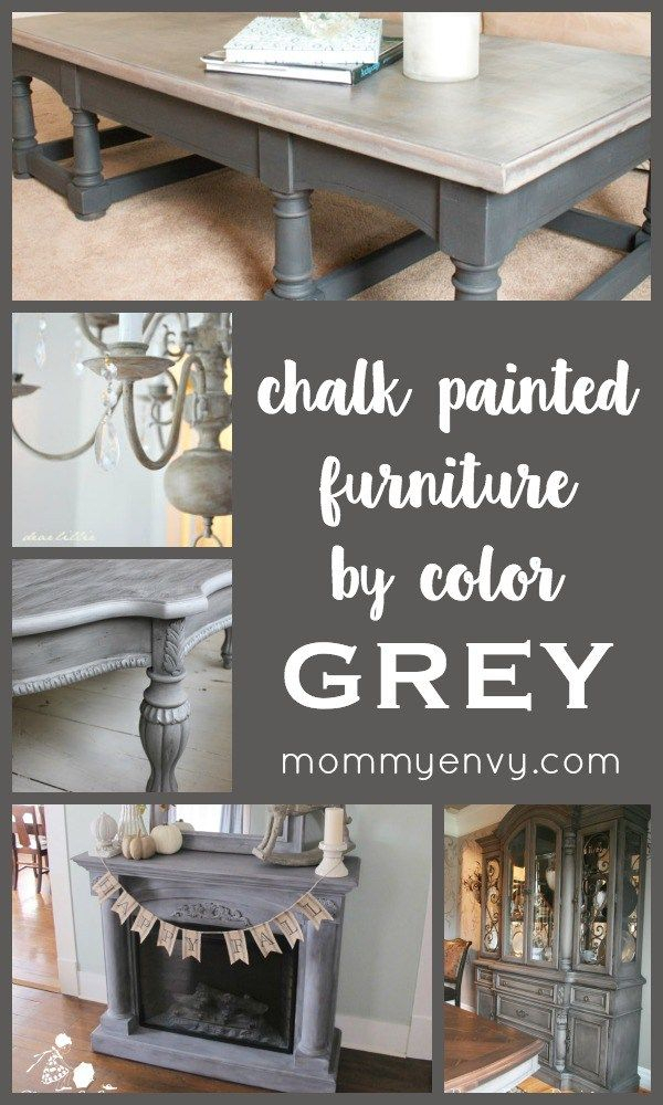 Distressed Grey Finish Wood Classic Design Dining Tables Intended For Preferred Chalk Painted Furniturecolor Series – Grey Chalk Painted (#8 of 20)