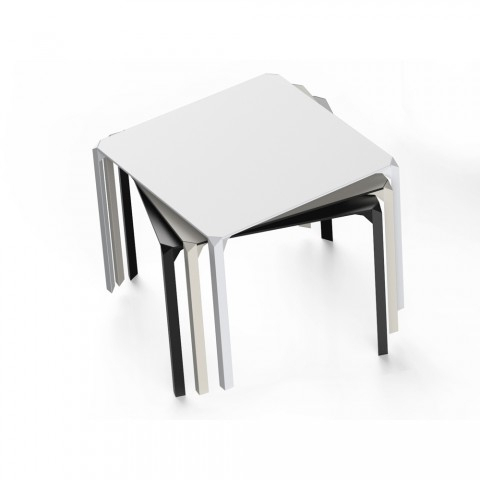 Dom Square Dining Tables Pertaining To Most Popular Vondom Quartz Outdoor Square Dining Table, Modern Design (View 18 of 20)