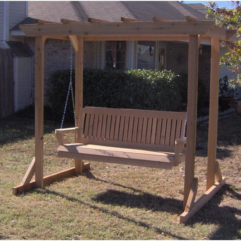 Inspiration about Donath Pergola Style Arbor Porch Swing With Stand | Porch For Pergola Porch Swings With Stand (#2 of 20)