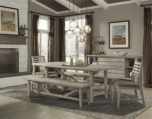 Inspiration about Driftwood Grey Dining Sets Easily Fit Into Contemporary Or With Newest Transitional Driftwood Casual Dining Tables (#1 of 20)