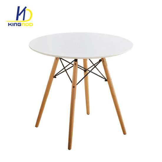 Eames Style Dining Tables With Wooden Legs Throughout Most Recent Europe Style Strong Matte Gloss Mdf Top Wood Legs Modern (#6 of 20)