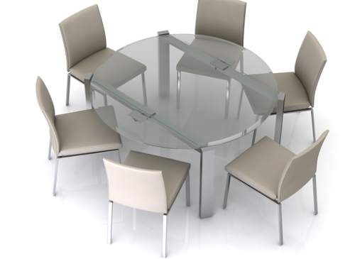 Eclipse Dining Tables In Preferred Eclipse Glass Extending Dining Table Uk (#9 of 20)