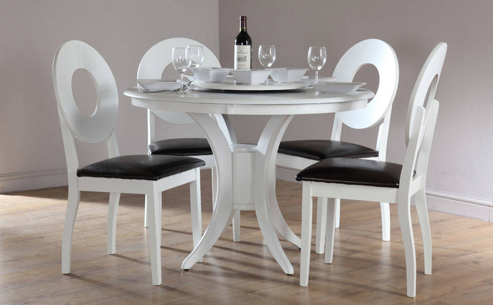 Elegance Small Round Dining Tables Inside Fashionable Small White Dinette Sets Innovative Modern Round Dining (#6 of 20)