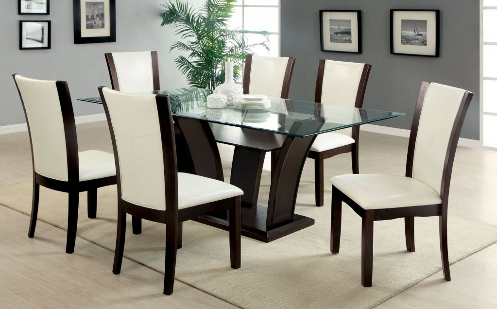 Elegant 6 Seat Dining Table Set With Regard To Encourage Inside Trendy Transitional 6 Seating Casual Dining Tables (View 6 of 20)
