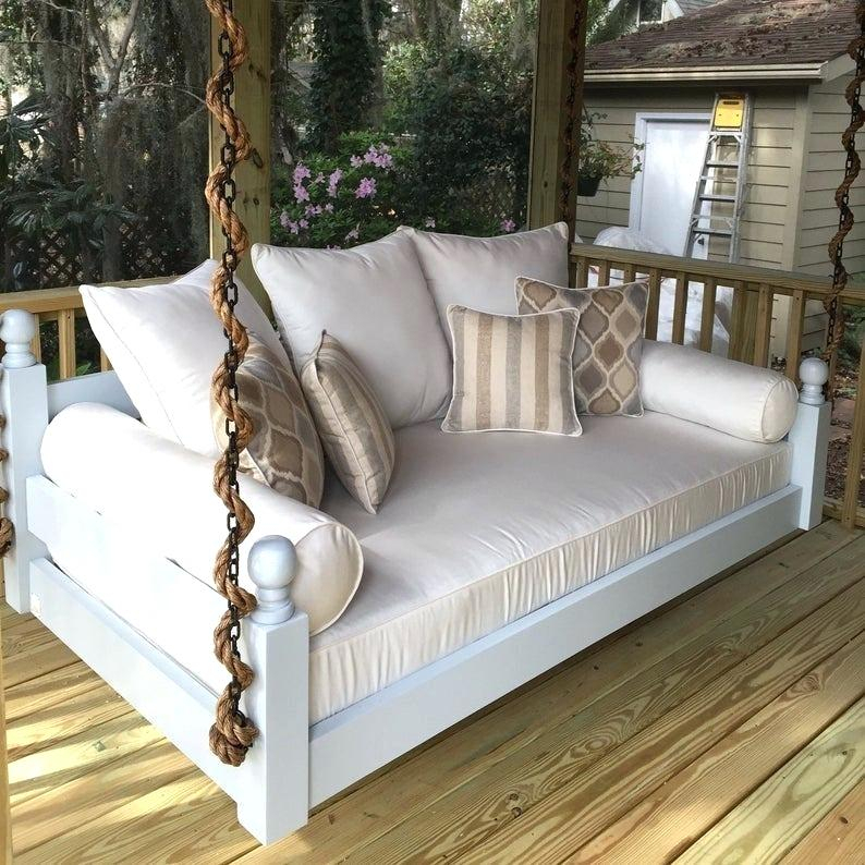 Enchanting Low Country Daybed Swing Beds The Island Porches Inside Country Style Hanging Daybed Swings (View 11 of 20)