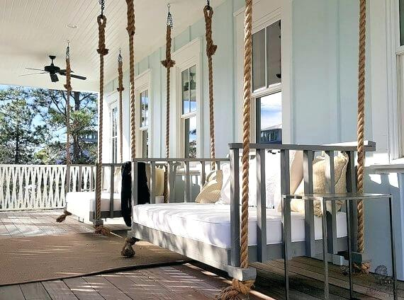 Enchanting Low Country Daybed Swing Beds The Island Porches With Country Style Hanging Daybed Swings (View 16 of 20)