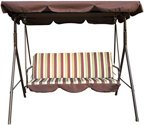 Enjoy Exclusive For Sliverylake Outdoor 3 Person Porch Pertaining To Patio Glider Hammock Porch Swings (#4 of 20)