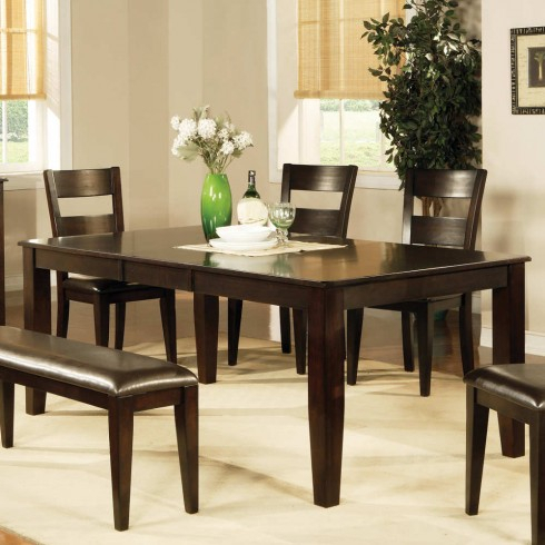 "Espresso Finish Wood Classic Design Dining Tables Regarding Widely Used Steve Silver Victoria 18"" Butterfly Leaf Table In Dark Espresso Cherry  Finish With Burnishing (#9 of 20)"