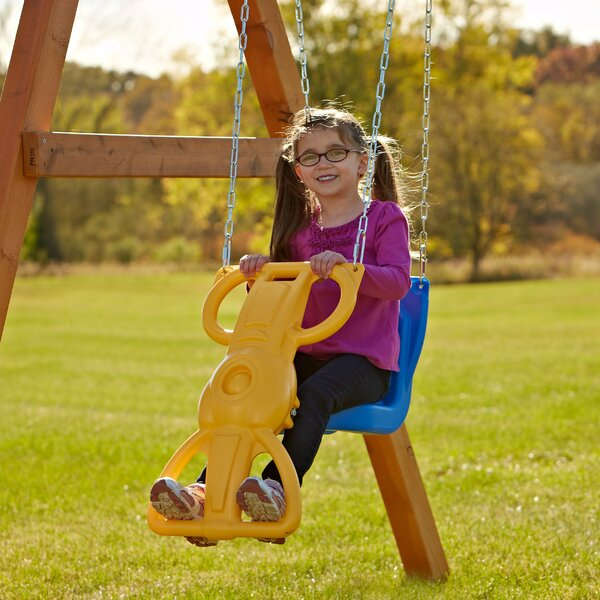Face To Face Glider Swing | Wayfair Pertaining To Dual Rider Glider Swings With Soft Touch Rope (#8 of 20)