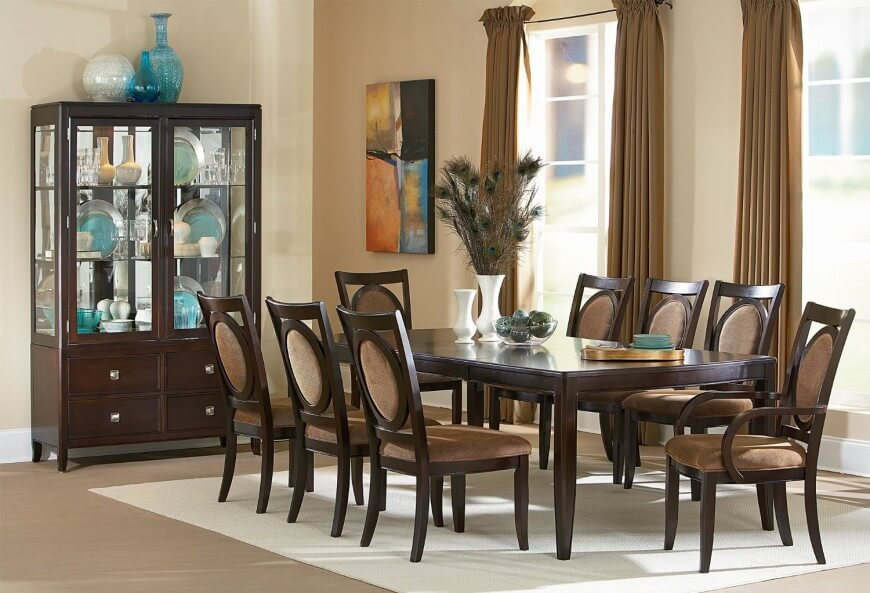 20 Best Collection Of Transitional 6 Seating Casual Dining