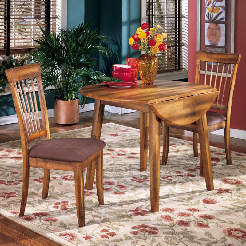 Famous 3 Pieces Dining Tables And Chair Set Within Berringer 3 Piece Drop Leaf Table & Side Chair Set (View 17 of 21)