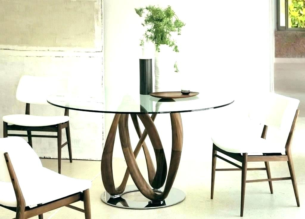 Famous Round Glass Top Dining Table And Chairs – Stichling Regarding Round Glass Top Dining Tables (View 17 of 20)
