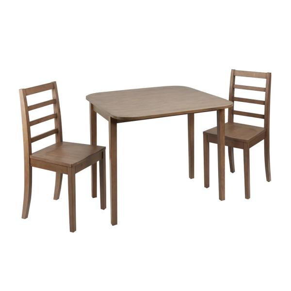 Famous Silverwood Furniture Reimagined Mason 3 Piece Drop Leaf Gray Regarding Transitional 3 Piece Drop Leaf Casual Dining Tables Set (View 9 of 20)