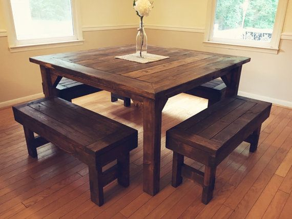 Famous Square Farmhouse Table (View 7 of 20)