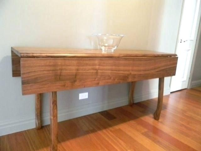 Famous Transitional 4 Seating Drop Leaf Casual Dining Tables Regarding Drop Side Dining Table Drop Down Leaf Table Dining Room (#6 of 20)