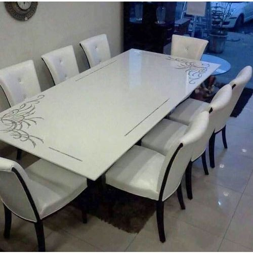 Famous White Marble Dining Table Top Pertaining To Dining Tables With White Marble Top (#7 of 20)