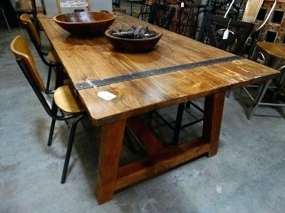 Fashionable Iron Wood Dining Tables In Wood And Metal Dining Table – Stichling (#7 of 20)