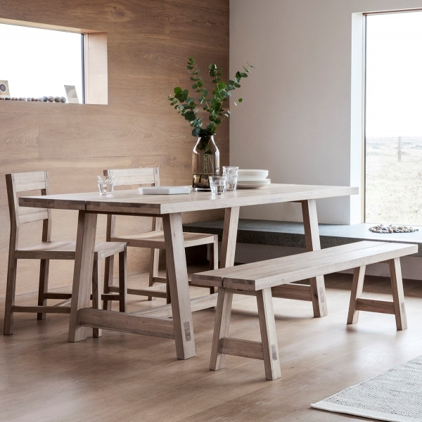 Fashionable Modern Dining Tables With Regard To Waldorf Contemporary Dining Table, Oak (#4 of 20)