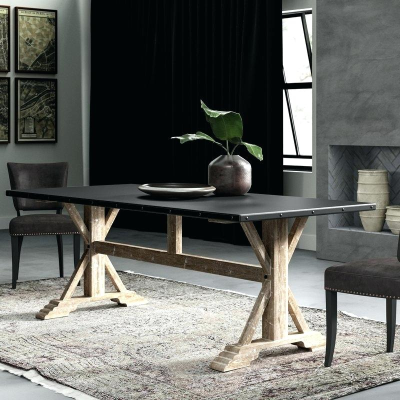 Fashionable Nelda Dining Table 84 Dining Table 84 Inch Rectangular With Regard To Acacia Dining Tables With Black Rocket Legs (View 12 of 20)