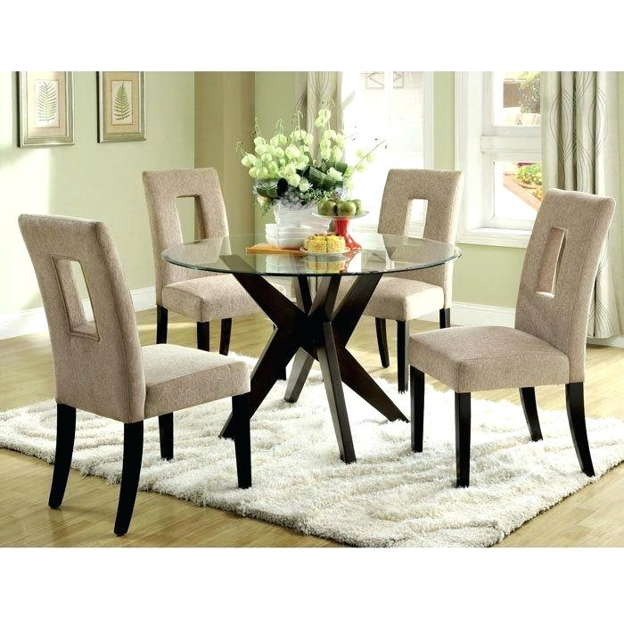 Fashionable Round Glass Table Set – Stichling Regarding Round Glass Top Dining Tables (View 11 of 20)